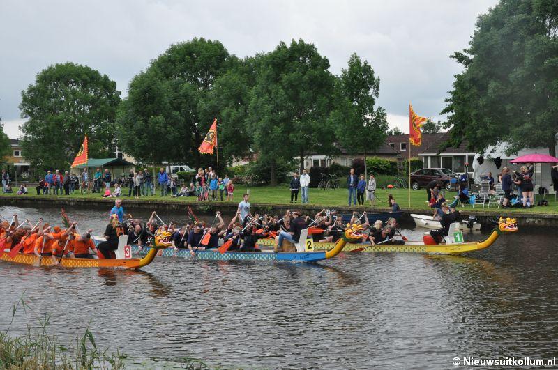 Zaterdag vijfde Open Friese kampioenschappen Drakenbootrace