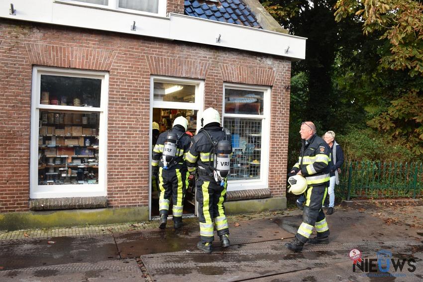 Photo of Brandweer in actie door kortsluiting