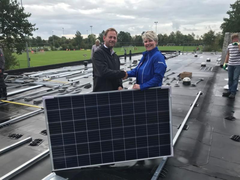 VV Kollum start met plaatsen zonnepanelen