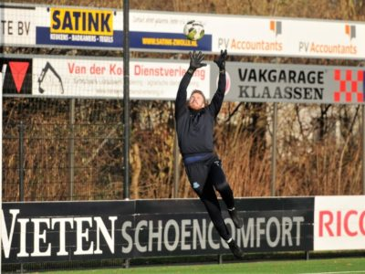 Kevin van der Meulen in de warming-up al sterk