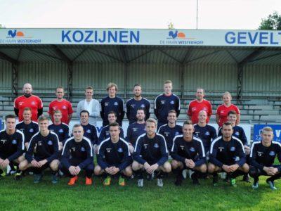 VV Buitenpost 1 in nieuwe trainingstenue gesponsord door De Haan Westerhoff