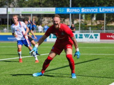 Kevin van der Meulen keepte sterk in Assen