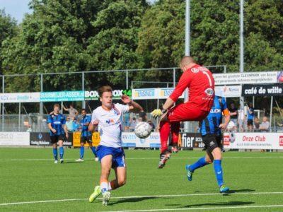 Rik Weening kan de Asser doelman net niet passeren