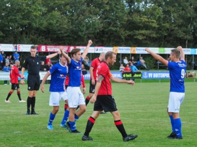 Rik Weening (midden, juichend) heeft de 3-1 gescoord