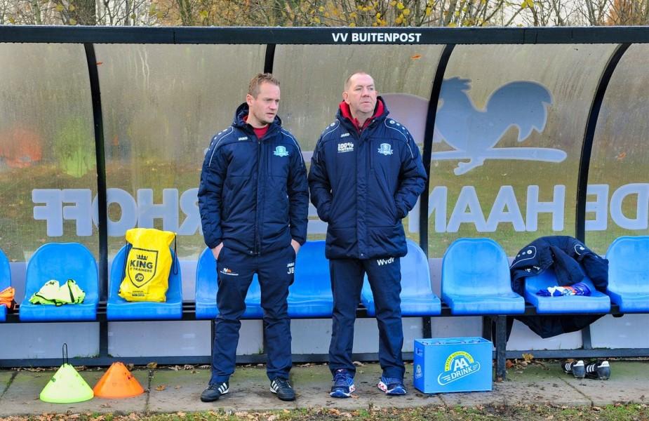 Photo of Buitenpost verder met trainer Jasper Bouma en assistent Wietse van der Veen