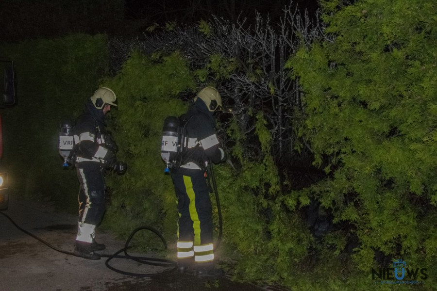 Photo of Brandweer blust coniferenbrand