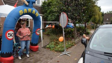 Photo of 'Birthday drive through' voor Marjan uit Buitenpost