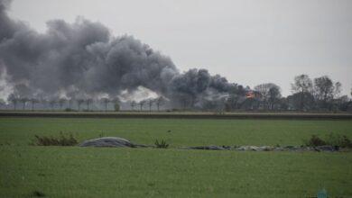 Photo of Uitslaande brand verwoest schuur bij Pieterzijl