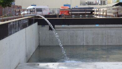 Photo of Waterdichtheid nieuwe zwembad De Kûpe in Buitenpost wordt getest